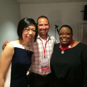 Fellow TED X speakers, Rosa Sheng and Stacey Holland.