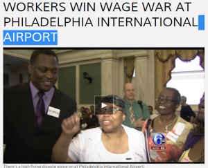 Workers win wage war at Philadelphia International Airport   6abc.com